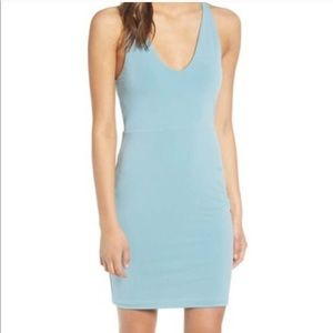 NWOT Leith Light Blue Racerback Body-Con Dress